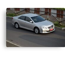 silver colored toyota camry Canvas Print