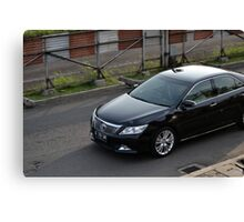 black colored toyota camry Canvas Print