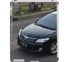 black colored toyota corolla altis iPad Case/Skin
