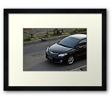 black colored toyota corolla altis Framed Print
