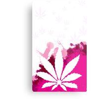 Pink Cannabis Metal Print