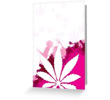 Pink Cannabis Greeting Card