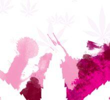 Pink Cannabis Sticker