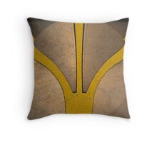 Three Forks Yellow Throw Pillow