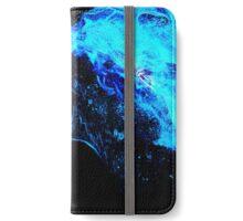 Blue fire horse spirit iPhone Wallet/Case/Skin