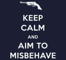 Keep Calm and Aim to Misbehave Kids Tee
