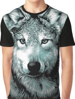 Wolf Face Graphic T-Shirt