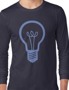 Blue Light Bulb Long Sleeve T-Shirt