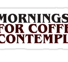 Stranger Things Coffee and contemplation Sticker