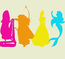 Princess Silhouettes by LookItsHailey
