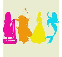 Princess Silhouettes Photographic Print