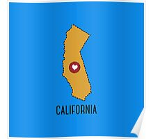 California State Heart Poster