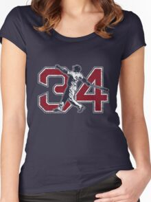 34 - Big Papi (vintage) Women's Fitted Scoop T-Shirt