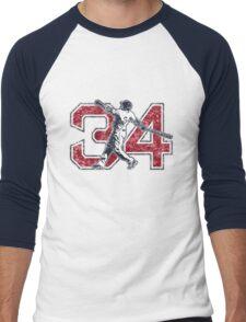 34 - Big Papi (vintage) Men's Baseball ¾ T-Shirt