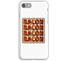 Bacon Bacon Bacon Bacon - 4 Slices of Bacon iPhone Case/Skin