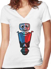 RRDDD Robot Women's Fitted V-Neck T-Shirt