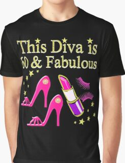 PINK 60 & FABULOUS DAZZLING DIVA DESIGN Graphic T-Shirt