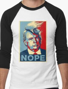 Trump Nope Men's Baseball ¾ T-Shirt