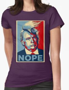 Trump Nope Womens Fitted T-Shirt
