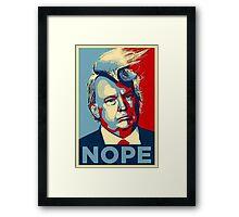 Trump Nope Framed Print