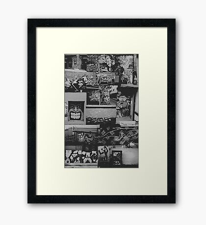 The Great Graffiti Collage Framed Print