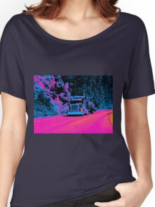Truckers Big Rig Auto-Transporter Truck  Women's Relaxed Fit T-Shirt