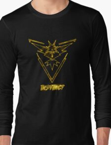 "Zapdos Team Instinct ""Just the Elements""  Long Sleeve T-Shirt"