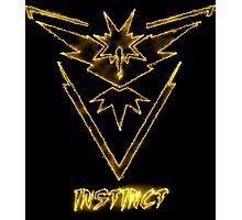 "Zapdos Team Instinct ""Just the Elements""  Photographic Print"