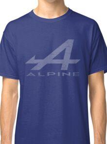 Alpine Alphabet Logo WHT Distressed Classic T-Shirt