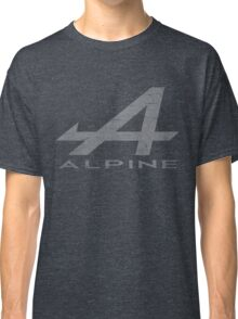 Alpine Alphabet Logo WHT Distressed Classic T-Shirt