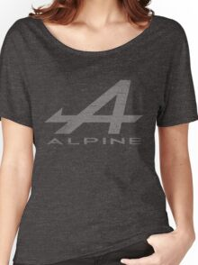 Alpine Alphabet Logo WHT Distressed Women's Relaxed Fit T-Shirt