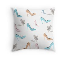 Fashion shoes pattern seamless. Vector stock. Throw Pillow