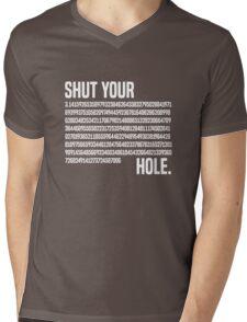 Shut your Pi hole (3.14) Mens V-Neck T-Shirt