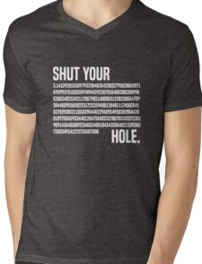 Shut your Pi hole (3.14) Mens V-Neck T-Shirt