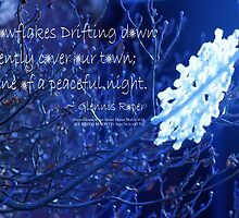 snowflake in blue 7 haiku  by Dawna Morton