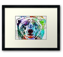 Polar Bear Grunge Framed Print