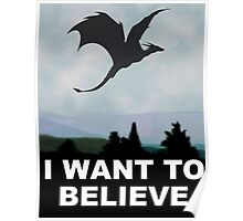I Want to Believe - Dragon Poster