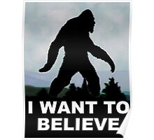 I Want to Believe - Bigfoot Poster