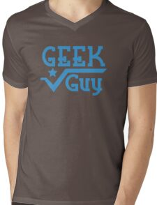 Geek Guy Mens V-Neck T-Shirt