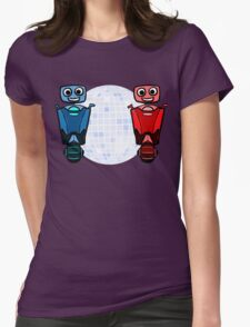 RRDDD Red and Blue Disco Womens Fitted T-Shirt
