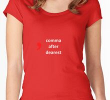 Hamilton - comma after dearest Women's Fitted Scoop T-Shirt