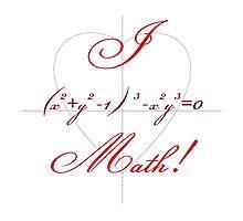 I Heart Math! Photographic Print