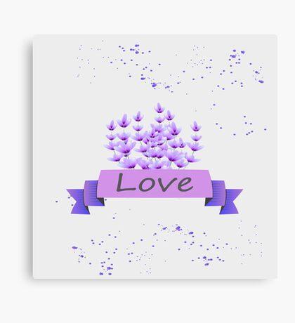 Lavender pattern. Vector stock. Canvas Print