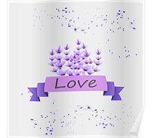 Lavender pattern. Vector stock. Poster
