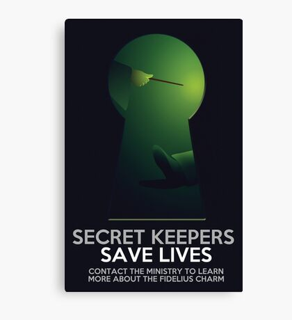 Secret Keepers Save Lives Canvas Print