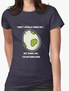 Egg workout Womens Fitted T-Shirt