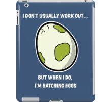 Egg workout iPad Case/Skin
