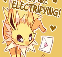 Jolteon Love by CutestPikachu