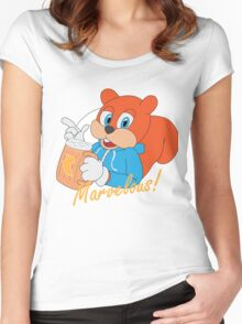"""Marvelous"" - Conker  Women's Fitted Scoop T-Shirt"