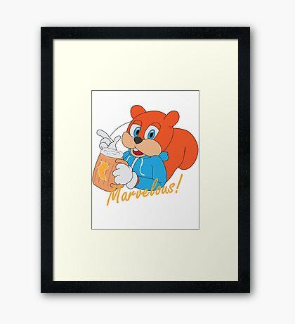 """""""Marvelous"""" - Conker  Framed Print"""